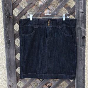 Ricki's denim skirt 3 buttons and zip